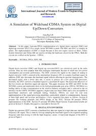 a simulation of wideband cdma system on digital up down converters