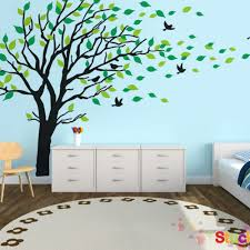 pvc wall sticker picture more detailed picture about large large size big green tree pvc wall sticker kids room living room bedroom home decor