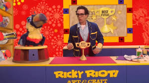 ricky riot and arty toucan are going to be on tv the ricky riot