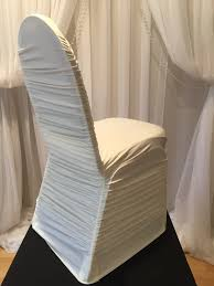 ivory chair covers chair decor ivory rouched chair cover