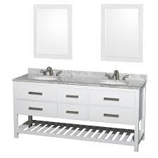 72 In Bathroom Vanity Natalie 72 Bathroom Vanity By Wyndham Collection White