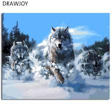 australian shepherd wolf online get cheap wolf oil paintings aliexpress com alibaba group