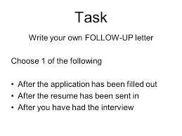 Examples Of Follow Up Letters After Sending Resume by Mrs Jeffries Practical English Iv Ppt Video Online Download