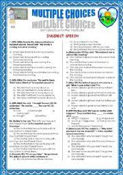 english worksheets indirect speech worksheets page 3