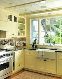 Yellow Kitchens With White Cabinets - pale yellow kitchen ideas with white cabinets color scheme grey