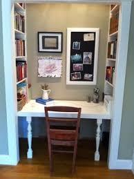 Closet Office Desk Office In A Closet Crafts Home