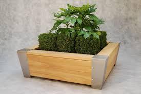 Metal Planter Box by Metal Planter Wooden Rectangular Contemporary Halston