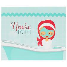 party invitations spa party invitations birthdayexpress