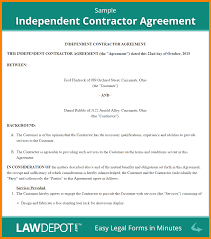 Doc 575709 Business Contract Template Independent Contractor Agreement Template Sample Indendent Contractor Agreement Png