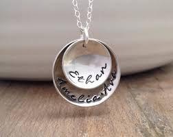 childs name necklace child name necklace etsy