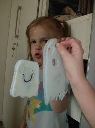 halloween kids craft ghost window clings fall pinterest