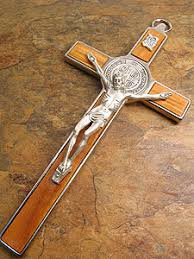 st benedict crucifix sb0006 8 st benedict crucifix in enamel iconeum llc