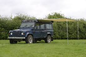land rover discovery camping pull out awning for land rovers u0026 other 4x4s outhaus uk