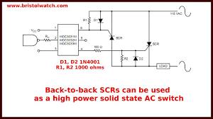 basic triac scr projects circuits tutorial