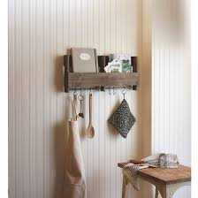 wooden shelf with s hooks threshold target