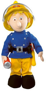 fireman sam talking penny soft toy working torch amazon