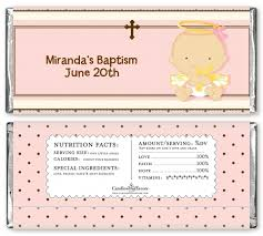 personalized baptism favors angel baby girl personalized candy bar wrapper baptism favors