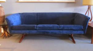 remnant reupholstered mid century sofa