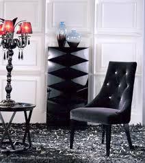 Purple Dining Chairs Armani Aa031 Black Velour Dining Chair