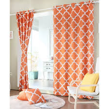 Orange Thermal Curtains Orange Blackout Curtains Home Design Ideas And Pictures