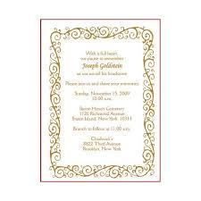 Funeral Service Invitation Invitation Cards Sample Format Pacq Co