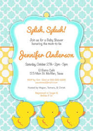 baby shower invitations rubber ducky theruntime saflly free