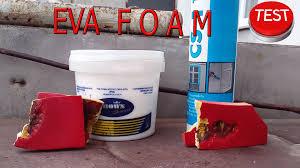 eva foam test 2 bending youtube