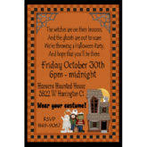 awesome halloween birthday invitation and halloween costume party
