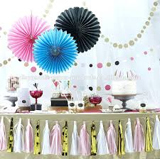 hanging paper fans birthday wall decorations pastel hanging tissue paper fans
