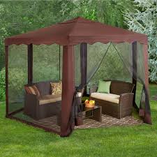 Outdoor Gazebo With Curtains by New And Improved 13 U0027w Hexagon Gazebo Brylanehome
