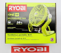 ryobi fan and battery new ryobi one plus 18 volt portable fan 30 more air speed 18v p3310