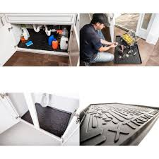 xtreme mats under sink xtreme mats under sink bathroom cabinet mat 21 3 8 x 18 1 2 black ebay
