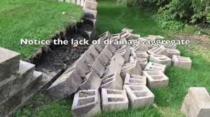 Ideas For Retaining Walls Garden by How To Build A Retaining Wall And Why They Fail Youtube