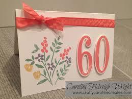 60 years birthday card craftycarolinecreates 60th birthday card handmade using number of