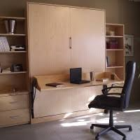 Murphy Style Desk Red White Murphy Bed With Desk On Glossed Wood Wall Unit For