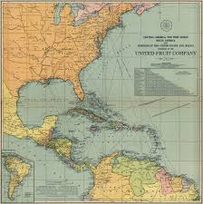 South West America Map by United Fruit Company Map Of Central America 1909