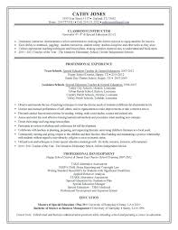 Resume Sles Special Education Resumes Sles Education Free Resume Images
