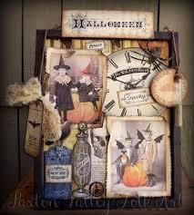 paxton valley folk art spooky halloween shadow box