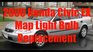 how to replace map light 2000 honda civic ex youtube