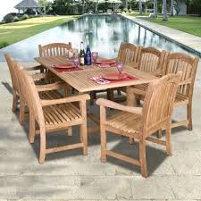 Round Patio Furniture Set by Round Wood Patio Table Xena Reclaimed Teak Round Dining Table