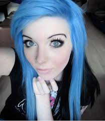 medium length scene hairstyles ira vampira blue hair blue eyes by iravampira88 on deviantart