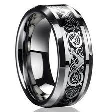 titanium band men silver celtic titanium stainless steel wedding band