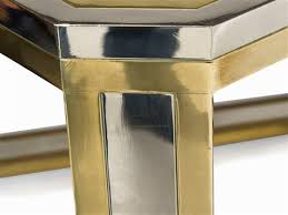 Brass Dining Table Chrome And Brass Dining Table By Romeo Rega On Artnet