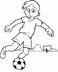 kids playing soccer coloring pages for boys people cool
