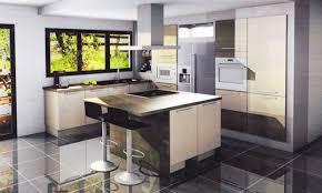 cuisine en u ouverte sur salon idee deco salon gris et marron collection et cuisine en ouverte