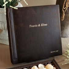 personalized leather photo album 6 best images of personalized leather wedding album personalized