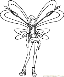 Winx Club Coloring Pages Winx Club Musa Coloring Pages