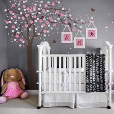 Nursery Tree Stickers For Walls Cherry Blossom Tree Decal Elegant Style