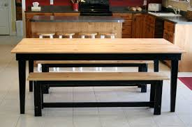 kitchen table with 2 benches wooden kitchen table benches