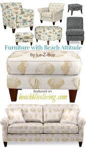 Chairs With Ottoman Upholstered Beach Fabric Accent Chairs And Ottomans By La Z Boy